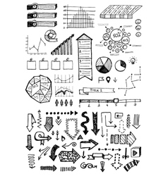 hand drawn business infographics sketch or vector image