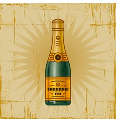Retro Champagne Bottle vector image vector image