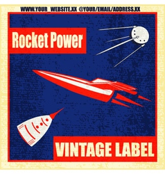 Retro Rockets vector image vector image
