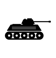 1341 military tank icon vector image