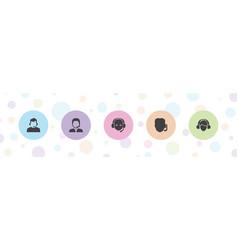 5 secretary icons vector
