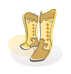 A pair of boots vector