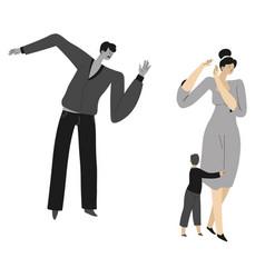 Aggressive behavior husband domestic violence vector