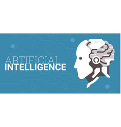 artificial intelligence concept vector image