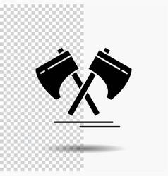 axe hatchet tool cutter viking glyph icon on vector image
