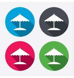 Beach umbrella icon Protection from the sun vector