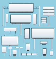 Billboard flat set of different perspectives vector