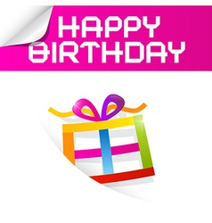 Birthday Theme with Colorful Paper Gift Box vector