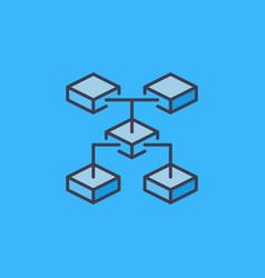 blockchain technology crypto icon or logo vector image