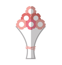 Bouquet of roses icon vector