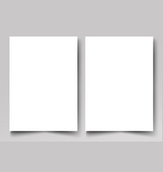 brochure templatetwo clean sheet paper vector image