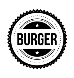 Burger vintage stamp vector