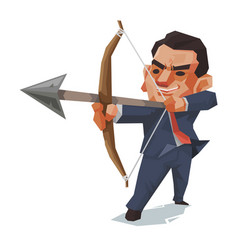 businessman and arrow business concept vector image