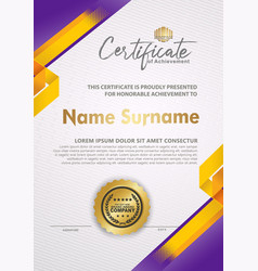 Certificate template with line halftone frame vector