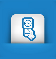 Clocking-in card icon vector