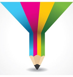 Creative info-graphic of pencil vector image