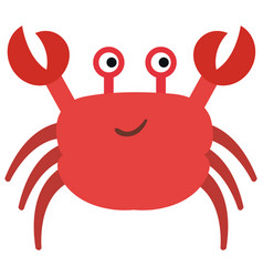 cute crab character icon vector image