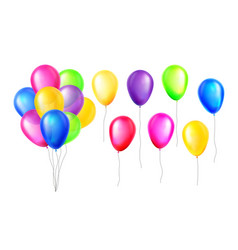 design multicolored helium air balloons set vector image