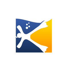 Diving logo design template vector