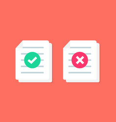 Document or paper icon with check mark vector