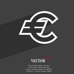 Euro EUR icon symbol Flat modern web design with vector image