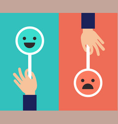 Feedback concept design with two emoticons signs vector