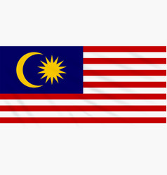 Flag malaysia swaying in wind realistic vector