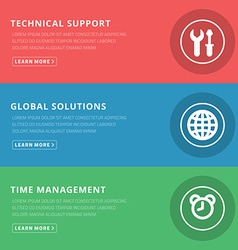 Flat design concept for technical support and vector
