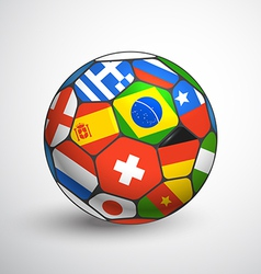 Football ball with different flags vector image