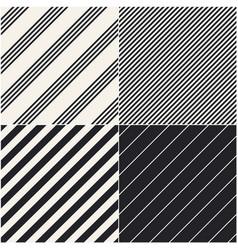 Four diagonal patterns collection diagonal lines vector