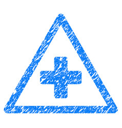 Health warning grunge icon vector