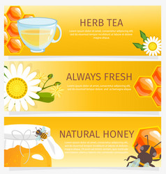 Honey horizontal vertical and square banners vector