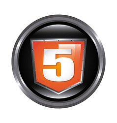 html 5 design vector image