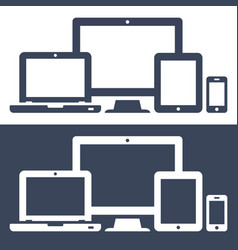 icons smart phone tablet laptop and desktop vector image