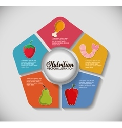 Infographic icon Nutrition and Organic food vector image