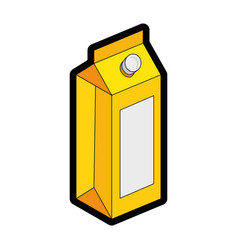 juice box icon vector image