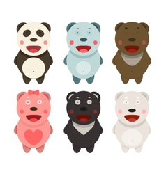 Kawaii Bears Collection vector image