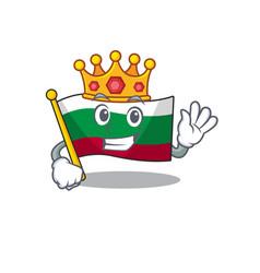 King flags bulgarian kept in mascot drawer vector