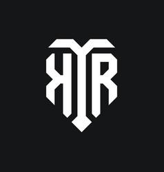 Kr logo monogram design template vector