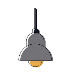 Lamp bulb ceiling element of interior modern vector
