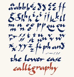 Lowercase calligraphy alphabet vector