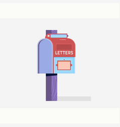 mailbox flat icone-mail marketing vector image