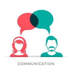 Man and woman communication icon vector