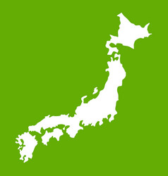 map of japan icon green vector image