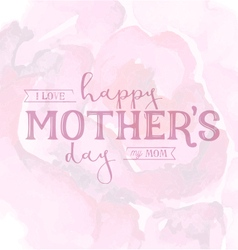 Mothers Day Design Element for Greeting Cards vector image