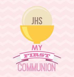 My first communion design vector
