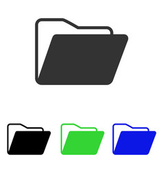 open folder flat icon vector image