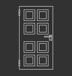 outlined door vector image