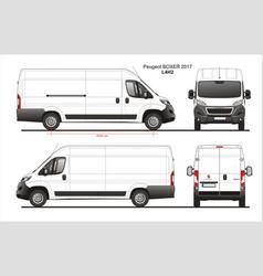 Peugeot boxer cargo delivery van 2017 l4h2 vector