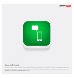 phone with message icon vector image
